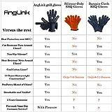 AngLink Grillhandschuhe, BBQ Handschuhe bis zu 800°C 1 Paar Rutschfeste Hitzebeständiger Handschuhe mit Silikon Ofenhandschuhe Topfhandschuhe Backhandschuhe für Grill Kochen Backen und Schweißen 33CM - 5