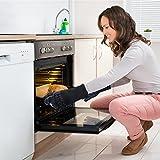 AngLink Grillhandschuhe, BBQ Handschuhe bis zu 800°C 1 Paar Rutschfeste Hitzebeständiger Handschuhe mit Silikon Ofenhandschuhe Topfhandschuhe Backhandschuhe für Grill Kochen Backen und Schweißen 33CM - 9