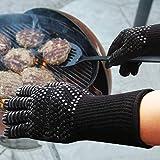 Better Choice Grillhandschuhe, Ofenhandschuhe Hitzebeständige bis zu 500 ° C, Premium Kochhandschuhe für BBQ, Kochen, Backen und Schweißen - 6