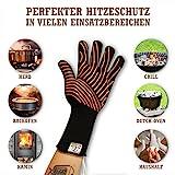 Ess-Nische Grillhandschuhe Hitzebeständig Bis 500 °C - Ofenhandschuhe Für Küche & Grill - Premium Backhandschuhe Extra Lang - 4