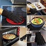 AOMEES Grillhandschuhe Ofenhandschuhe - Hitzebeständig BBQ Handschuhe 500 ° C / 932 ° F 1 Paar: Rutschfeste Perfekt zum Kochen Grill & Feuerplatz Zubehör Backhandschuhe mit EN407 Zertifizierte - 6