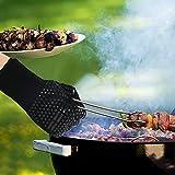 Karrong Grillhandschuhe Hitzebeständig Ofenhandschuhe, BBQ Handschuhe Hitzebeständig bis zu 500℃ / 932℉ mit EN407 Zertifizierte für BBQ, Grill, Kochen, Backen, Schweißen, Schwarz(1 Paar) - 5