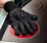 Viktorius Grillhandschuhe hitzebeständig bis 500°C Premium Ofenhandschuhe Extra Lang | BBQ Handschuhe Inklusive Grillzange - 3