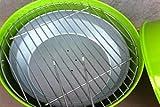 Mini Kugelgrill BBQ Grill grün Holzkohlegrill Camping Garten Kohle Gartenausstattung von Jet-Line -