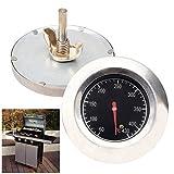 BAYTTER® Grillthermometer Thermometer Ofenthermometer Edelstahl BBQ Gasgrill Grillwagen bis 430 °C